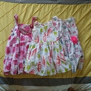 Bundle of 3 - size 2T-3T dresses
